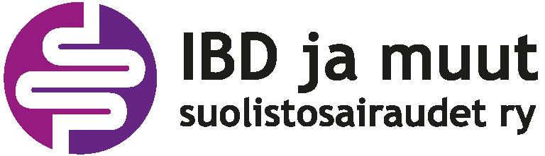 IBD ja muut suolistosairaudet ry:n logo, jossa lukee yhdistyksen nimi