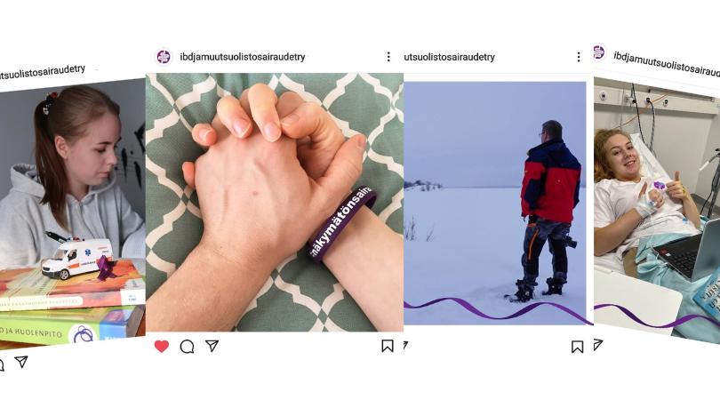Rivissä kuvia Sometiimin Instagram-julkaisuista.